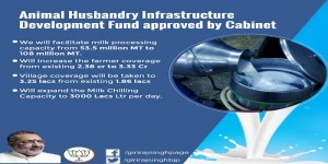 Cabinet approves 15000cr fund to boost  Animal Husbandry Infrastructure